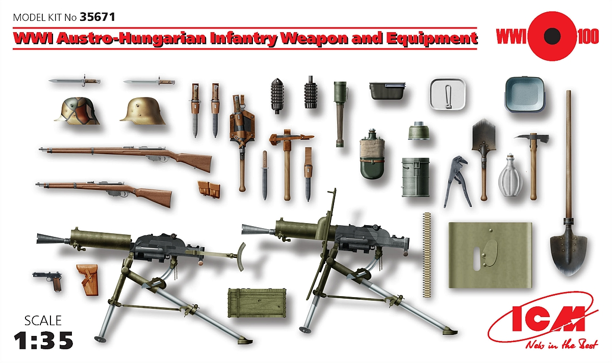 Review: ICM 35671 WW1 Austro-Hungarian Infantry Weapons ...